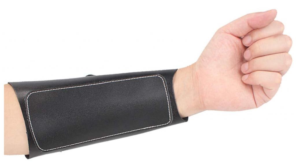 KRATARC Archery Leather Adjustable Wristband Unisex Protective Arm Guard